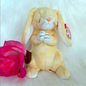 VINTAGE- TY BEANIE BABY praying bunny- GRACE 2000